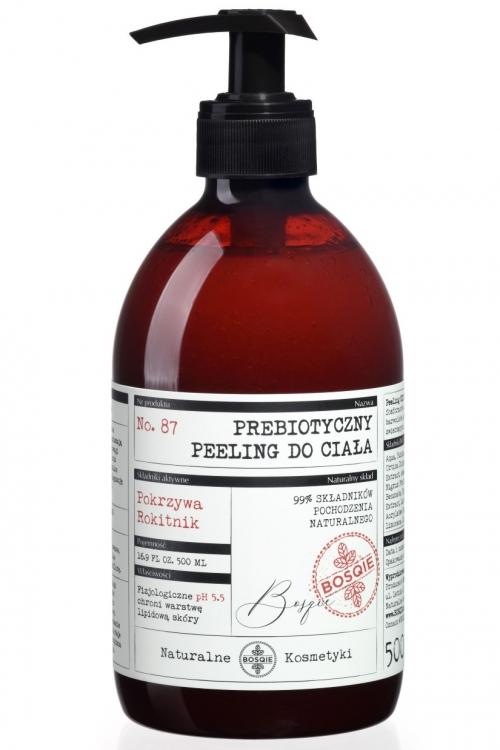 Naturalny Prebiotyczny Peeling do ciała - Pokrzywa i Rokitnik 500ml